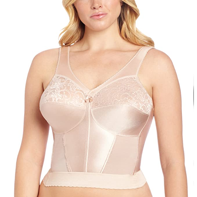 What Did Women Wear in the 1950s? 1940s Glamorise Womens Magiclift Long Line Bra                               $54.14 AT vintagedancer.com