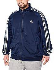 7e62a0374560 adidas Men s Essentials 3-Stripe Tricot Track Jacket
