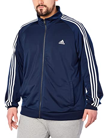 7e62a0374560 adidas Men s Essentials 3-Stripe Tricot Track Jacket