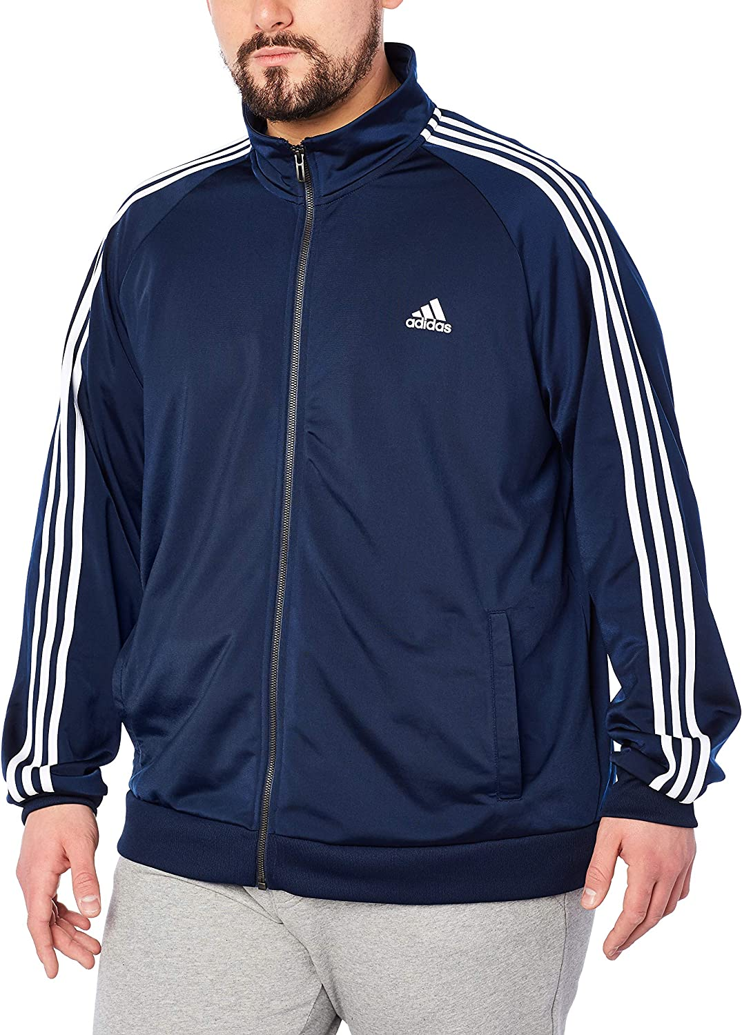 Adidas 3 Essentials Tricot Jacket Track Stripe Men's qzGMSUVp