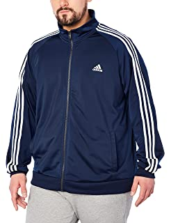 14a44fe49c44c6 Amazon.com  adidas Men s Essentials 3-Stripe Full Zip Fleece Hoodie ...