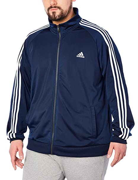 8594bb7e4a48 Adidas Essentials 3S Tricot Track Jacket Men s All Sports 2XLT Collegiate  Navy-White