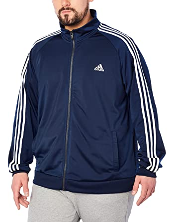 e848ee208 adidas Men's Big & Tall Essentials 3-Stripes Tricot Track Jacket Collegiate  Navy/White