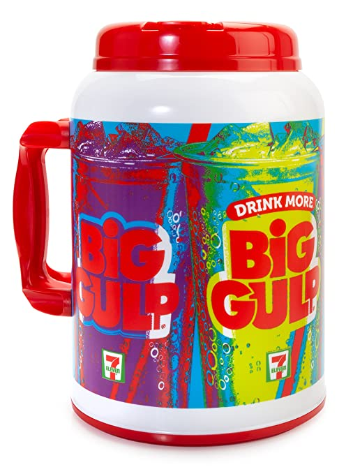 7-Eleven Big Gulp Foam Insulated Travel Mug, 100 Ounces, Red & White