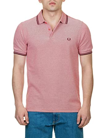 Fred Perry M3600, Polo para Hombre, Washed Red / Crushed Berry ...