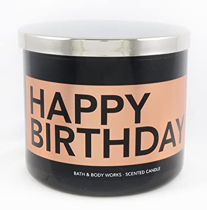Amazon Bath Body Works Candle 3 Wick 145 Ounce Happy Birthday Buttercream Icing Home Kitchen