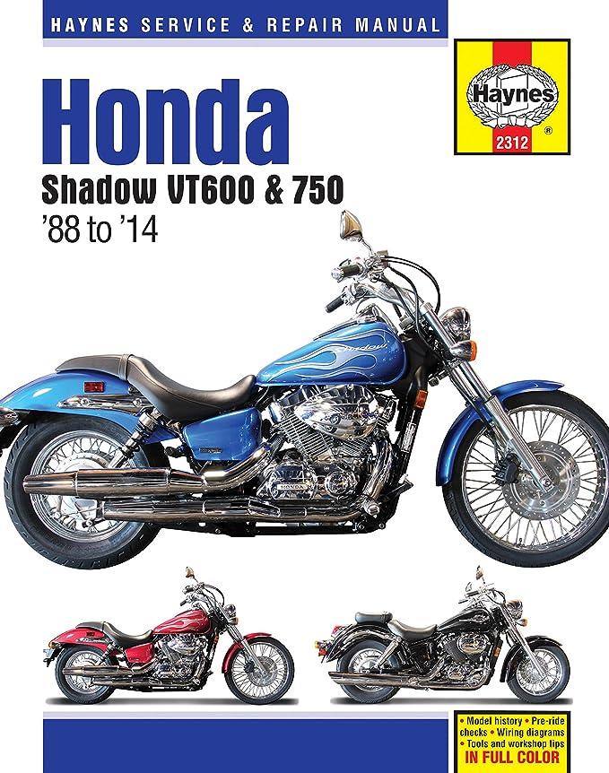 amazon com haynes m2312 honda shadow vt600 and vt750 repair manual rh amazon com Honda VT1100C3 Shadow Honda Shadow VT700C