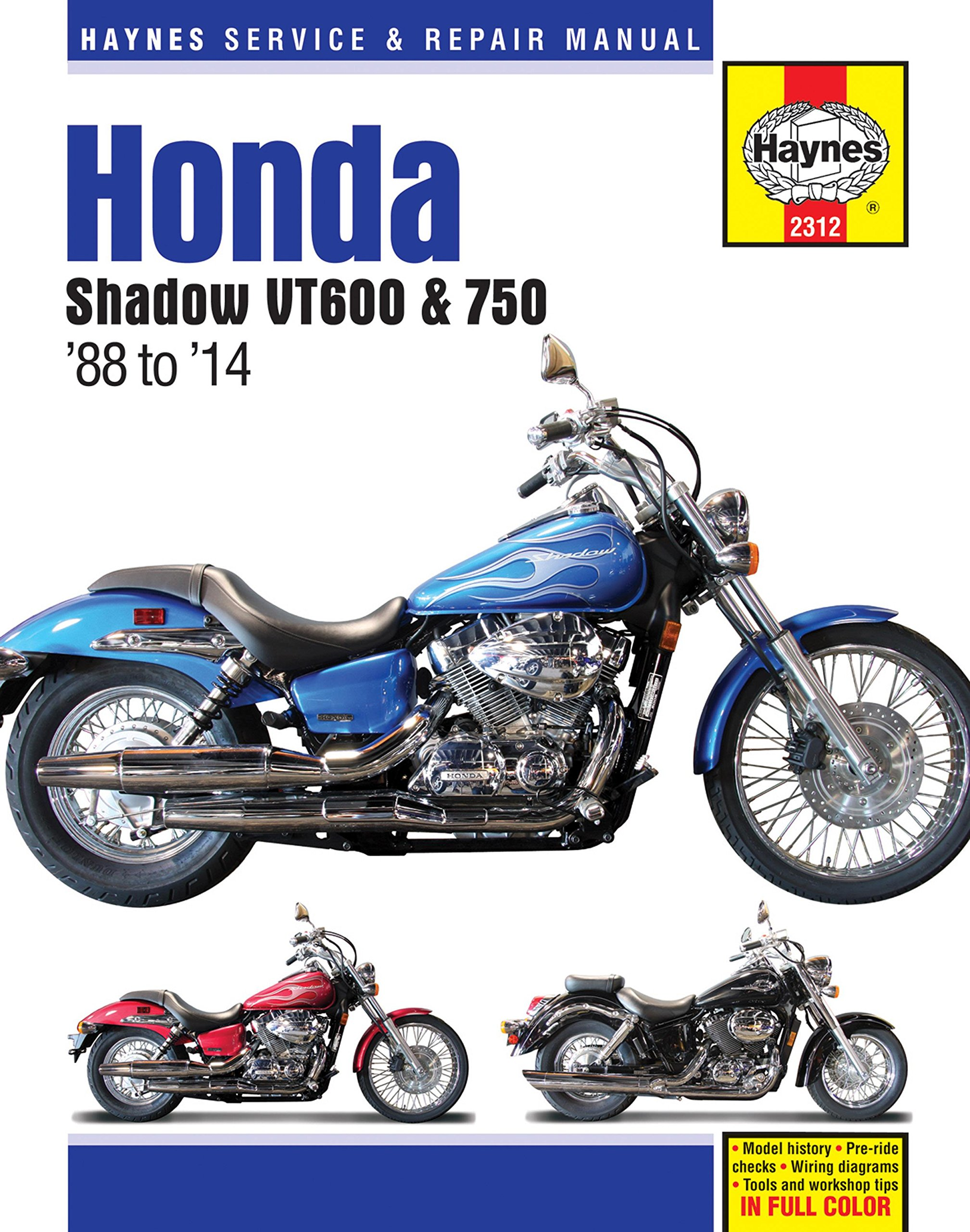 Haynes M2312 Honda Shadow Vt600 And Vt750 Repair Manual Ct 100 Bike Wiring Diagram 1988 2014 Automotive
