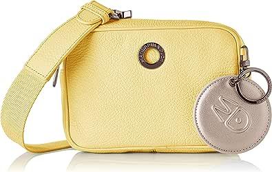 Mandarina Duck Mellow Leather Tracolla, Bolsa de mensajero para Mujer, Rosa, 6x12x18 Centimeters (W x H x L)
