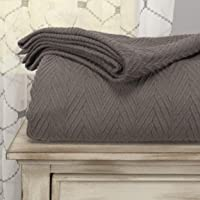 SUPERIOR 100% Cotton Thermal Blanket - All-Season Oversized Throw, Woven Blanket with Herringbone Weave Pattern…