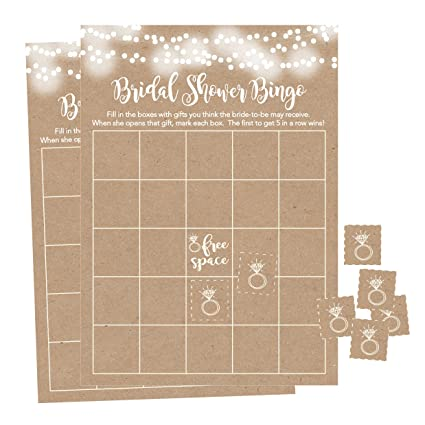 Wedding Game Free.25 Rustic Kraft Bingo Game Cards For Bridal Wedding Shower And Bachelorette Party Bulk Blank Squares To Fill In Gift Ideas Funny Supplies For Bride