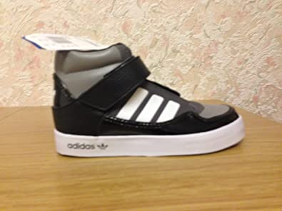 best loved da10f 45014 adidas Originals Adi-Rise 2.0 Childrens HI-TOP Sneaker in Black Grey White