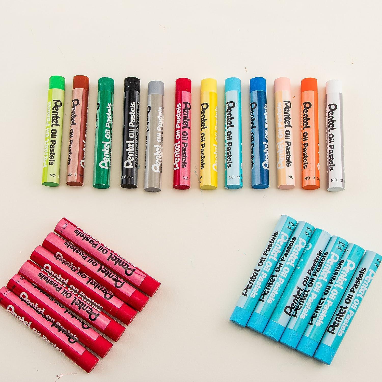 Boite de 25 Pastels /à lhuile couleurs assorties Pentel PHN-25U