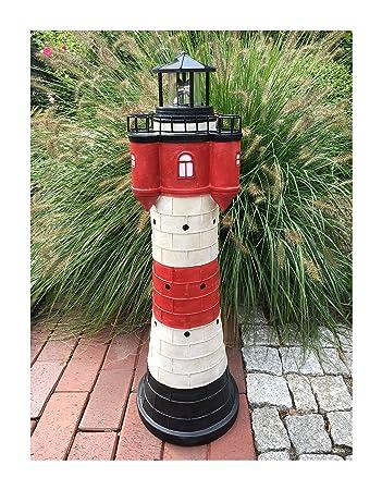 Garten Deko Figur Solar Leuchtturm 80 Cm Mit LED Beleuchtung Modell Roter  Sand | Liebevoll Hand