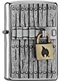 Zippo 16771 Close Vintage - Chrome Brushed - Spring 2017 Feuerzeug, Chrom, Silber, 5.8 x 3.8 x 2.0 cm