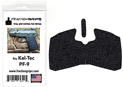 Tractiongrips Rubber Grip Tape Overlay for Kel-Tec PF-9, PF9 Pistols