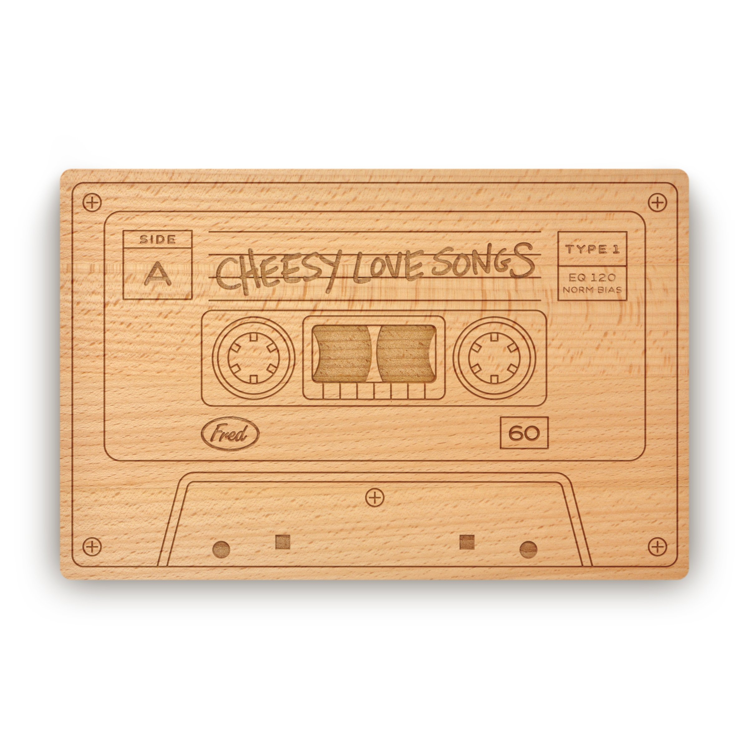 Fred CHEESY LOVE SONGS Cheese Board, 10.5-Inch-by-7-Inch