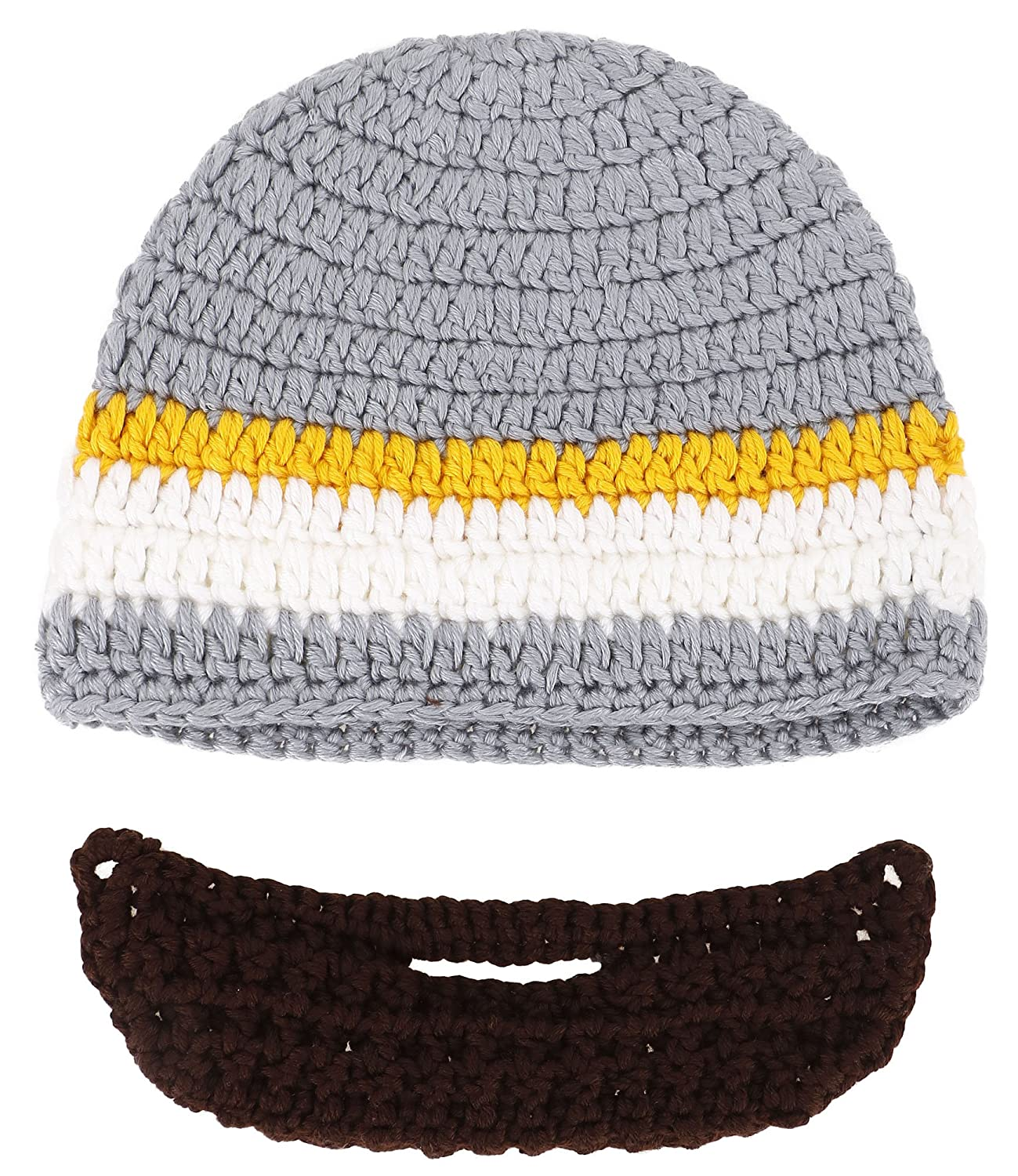 Amazon Simplicity Toddlers Winter Warm Knit Bearded Face Mask