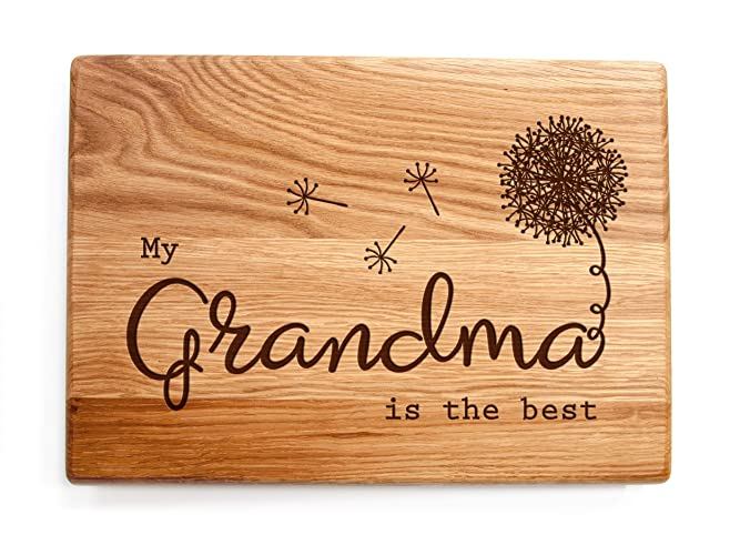 Grandma Gift Christmas or Birthday Gift Everything is Better in Grandma/'s Kitchen Bamboo Cutting Board