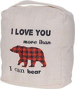 I Love You More Than I can Bear Door Stop - Cute Animal Door Stopper Home Decor - Decorative Door Stops for Bear Lover