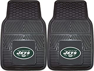 "product image for FANMATS 8773 NFL New York Jets Vinyl Heavy Duty Car Mat,Black,18""x27"""