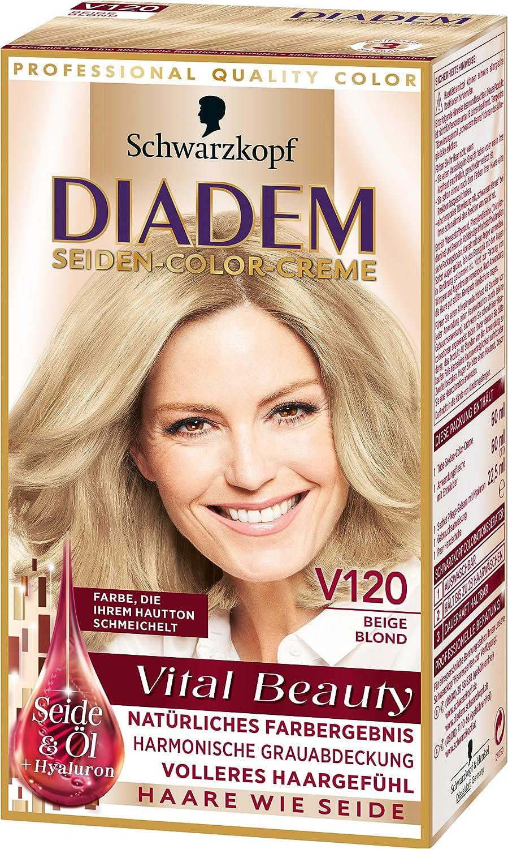 Diadem Seiden Color Creme V120 Beige Blond Vital Beauty 3er Pack 3 X 142 Ml