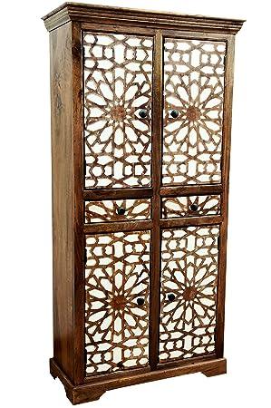 Marrakesch Rabat - Armario de Madera Maciza para Pasillo, Dormitorio, salón o baño, 180 cm de Alto, Estilo marroquí: Amazon.es: Juguetes y juegos