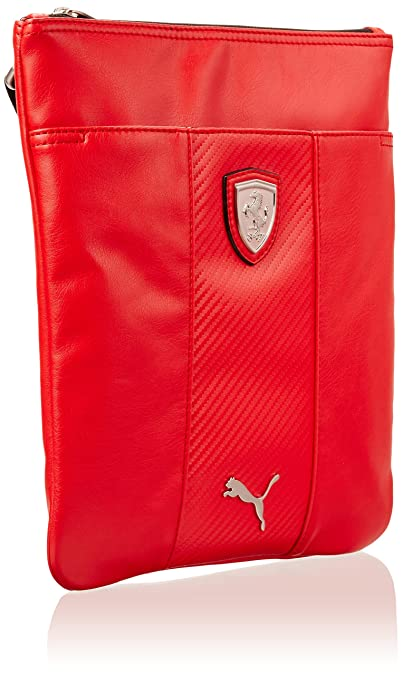 4e93fb5add Unisex Puma Ferrari LS Portable Tablet Bag Red Leather  Amazon.co.uk  Shoes    Bags