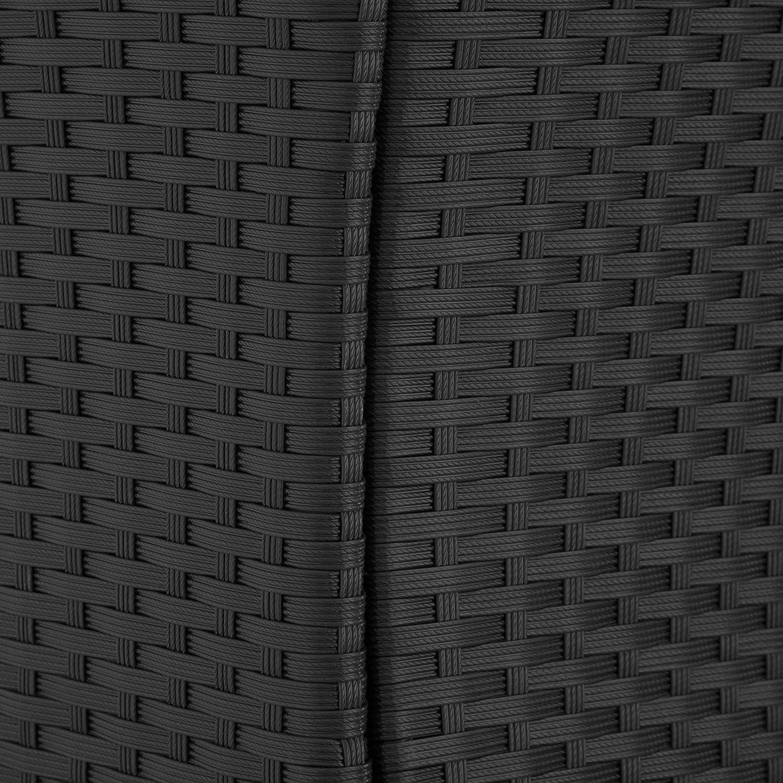 Gris | no. 403222 Vis en Acier Inoxydable diverses Couleurs au Choix TecTake 800307 Ensemble Salon de Jardin en R/ésine Tress/ée Poly Rotin 8+1