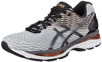 ASICS Men's Gel-Nimbus 18 Mid Grey, Black and Copper Running Shoes - 6