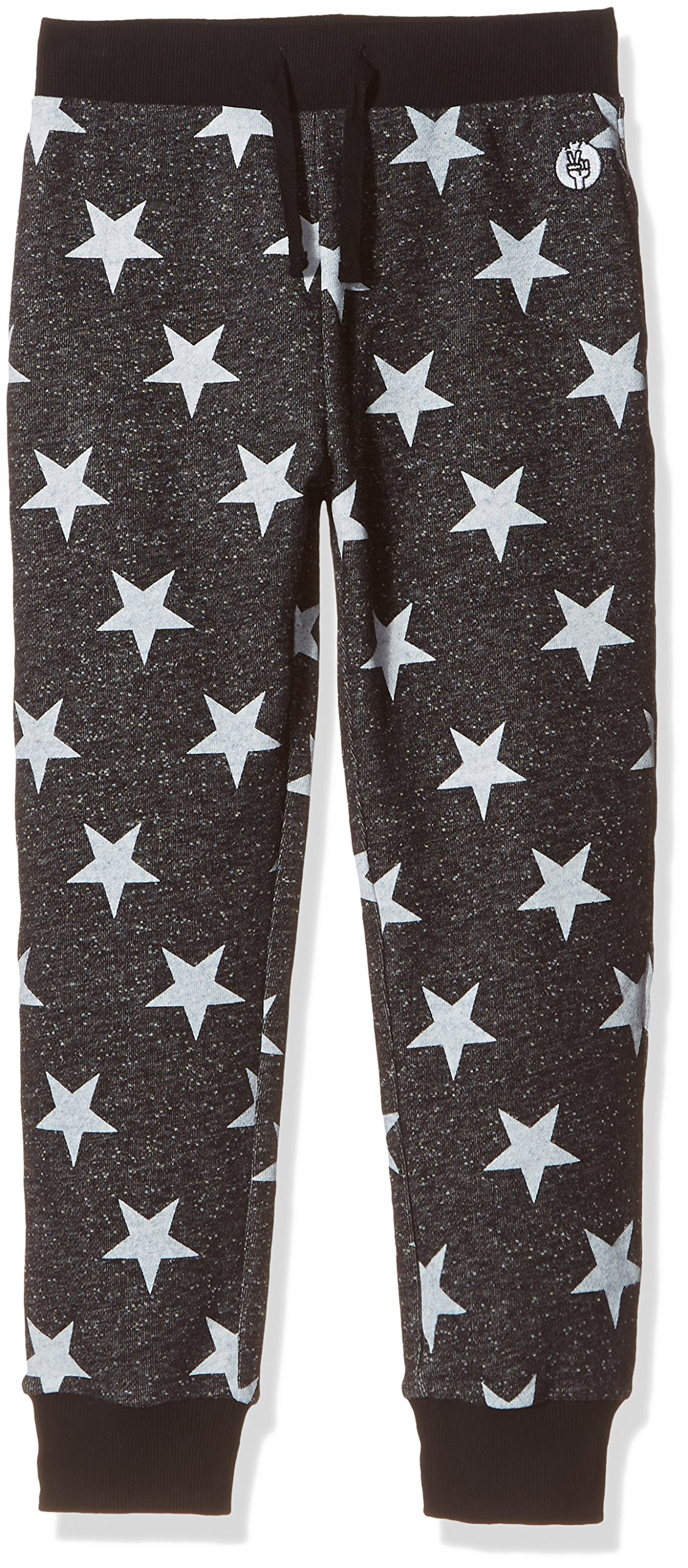 Kid Nation Kids' French Terry Printed Jogger for Boys or Girls X-Small Black