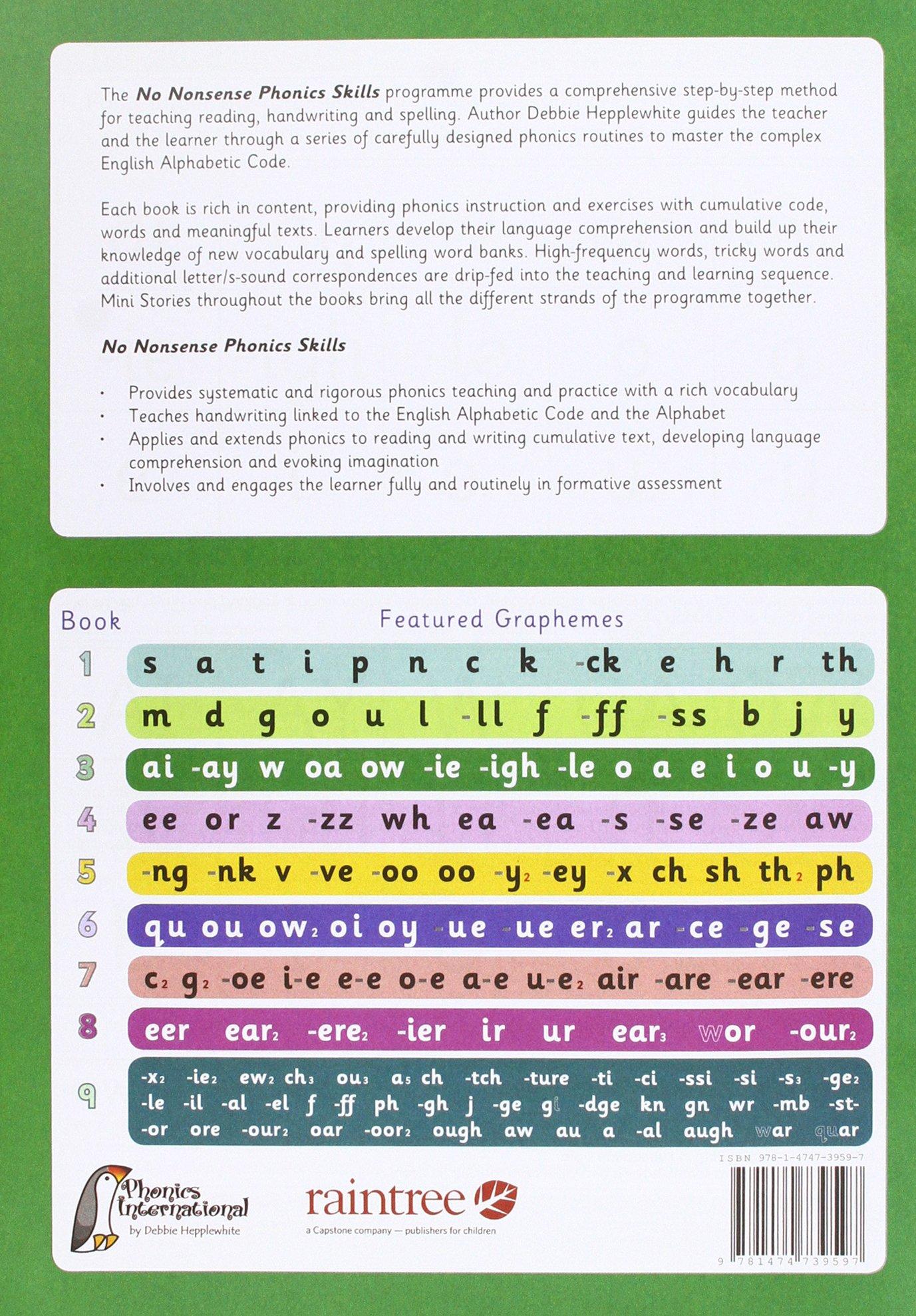 No Nonsense Phonics Skills Pupil 9781474739696 Amazon Books