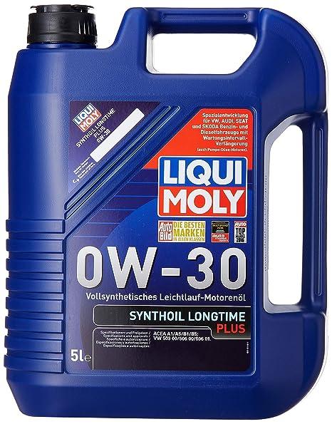 Liqui Moly 1171 Synthoil Longtime Plus 0W-30 - Aceite antifricción sintético para motores de