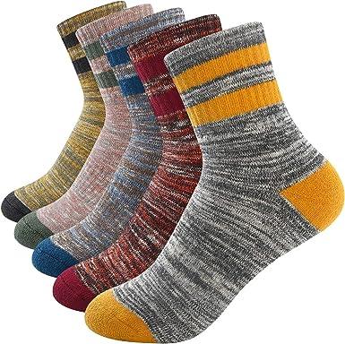 FEIDEER Hiking Socks Walking Socks For Women Multi-pack Moisture Wicking Crew Socks Athletic Outdoor Recreation Socks