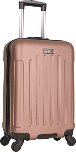Heritage Travelware Lincoln Park 20 Hardside 4-Wheel Spinner Carry-on Luggage, Rose Gold