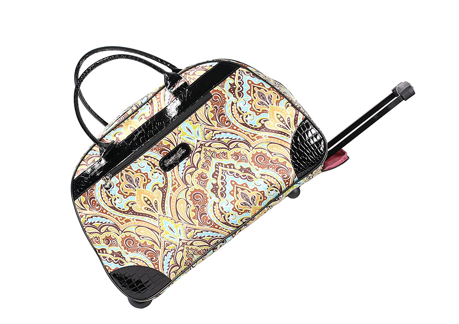 Kathy Van Zeeland Womens 22 Inch Printed Rolling Carry-On (One Size ... a210184bd4848