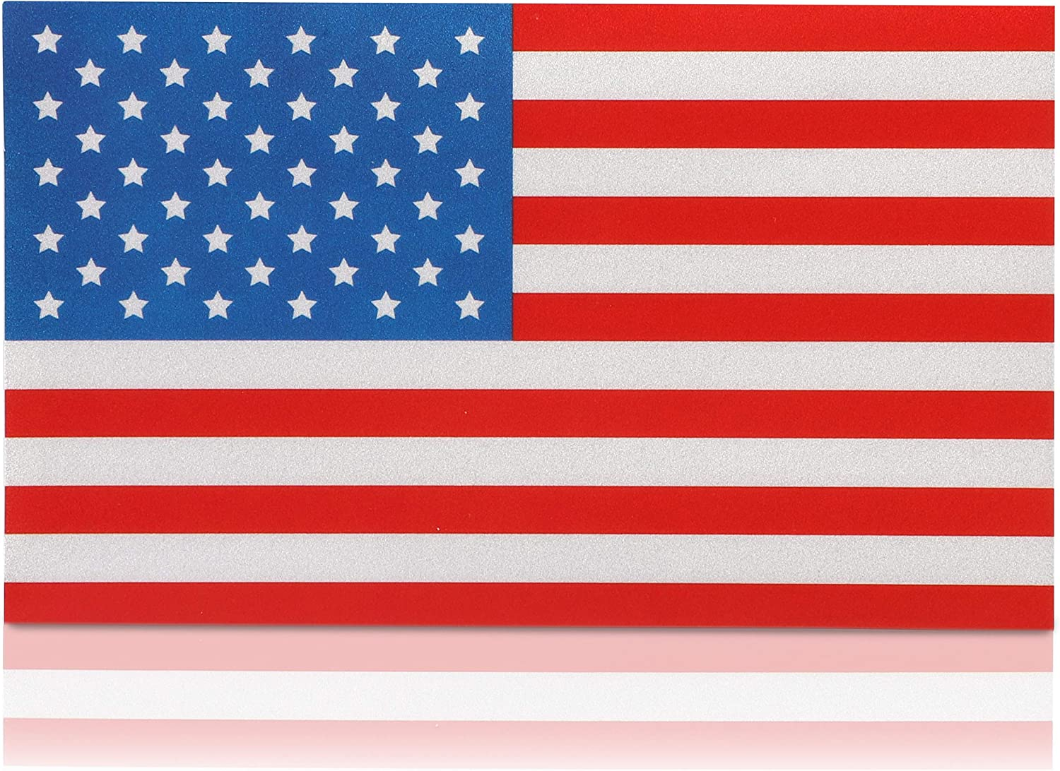 American Flag Stickers 5 x 3 in, 8 Pack