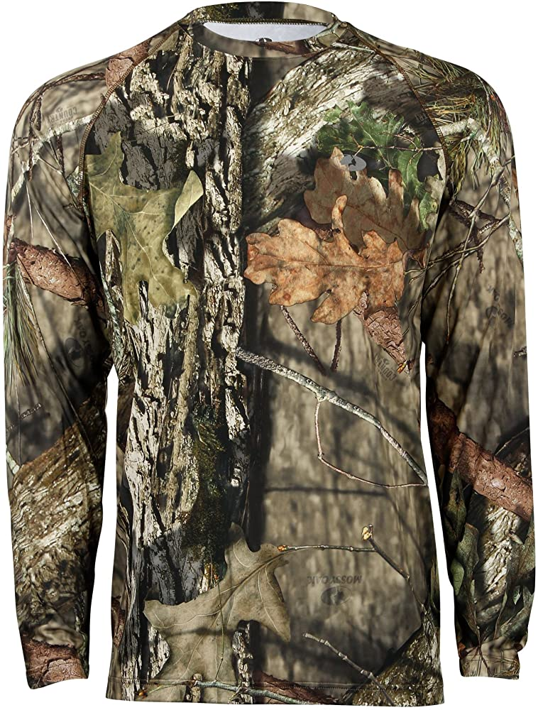 6cf9270a5a449 Mossy Oak Men's Camo Long Sleeve Performance Tech Tee Hunting Shirt  Available in Multiple Camouflage Patterns