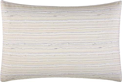 Vera Wang Marbled Throw Pillow, Strie, Natural