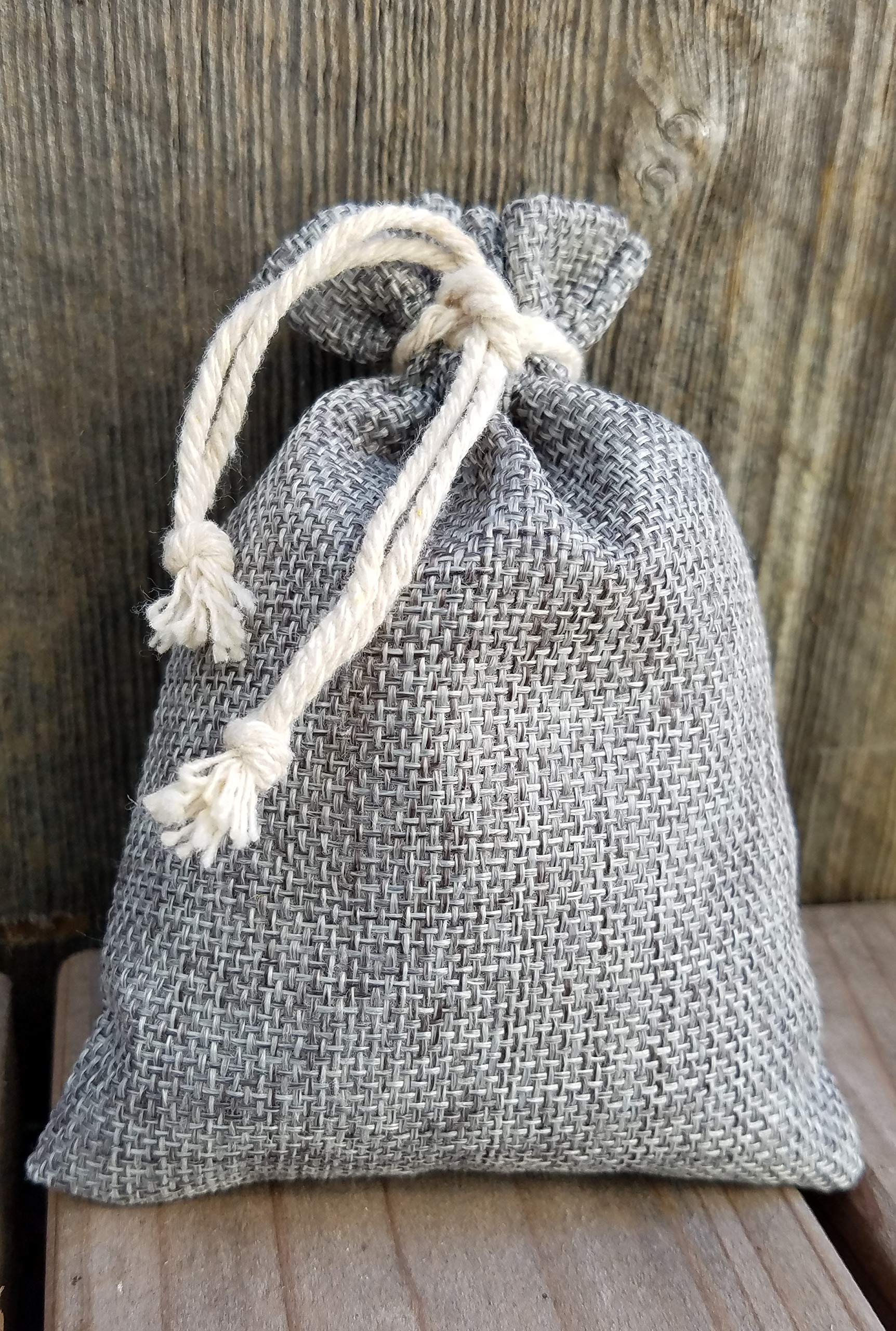 Lavender Scent Sachets, 32 Grams of Fresh, Naturally Dried, Fragrant Lavendula in Burlap Bags (3.7''x5.3''), (Set of 3 Colors: tan, Grey & Ethnic Print) Harvested in Northern California by Generic (Image #4)