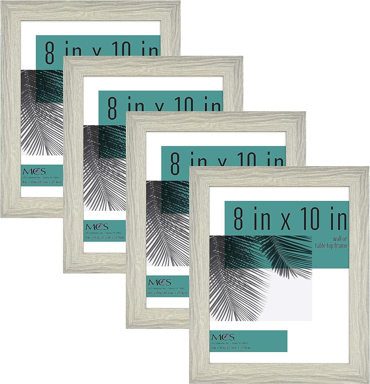 MCS Industries Studio Gallery Frames, 8x10 in, Gray Woodgrain, 4 Count