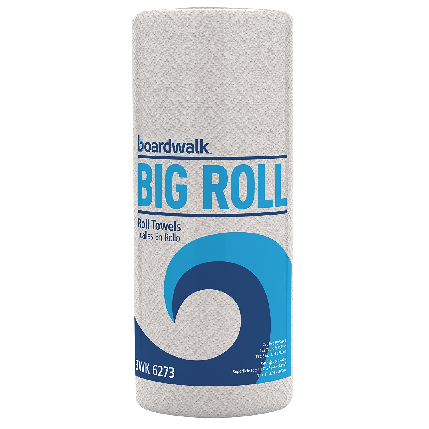 Boardwalk 6273 Perforated Paper Towel Roll, 2-Ply, White, 11 x 8 1/2 ...