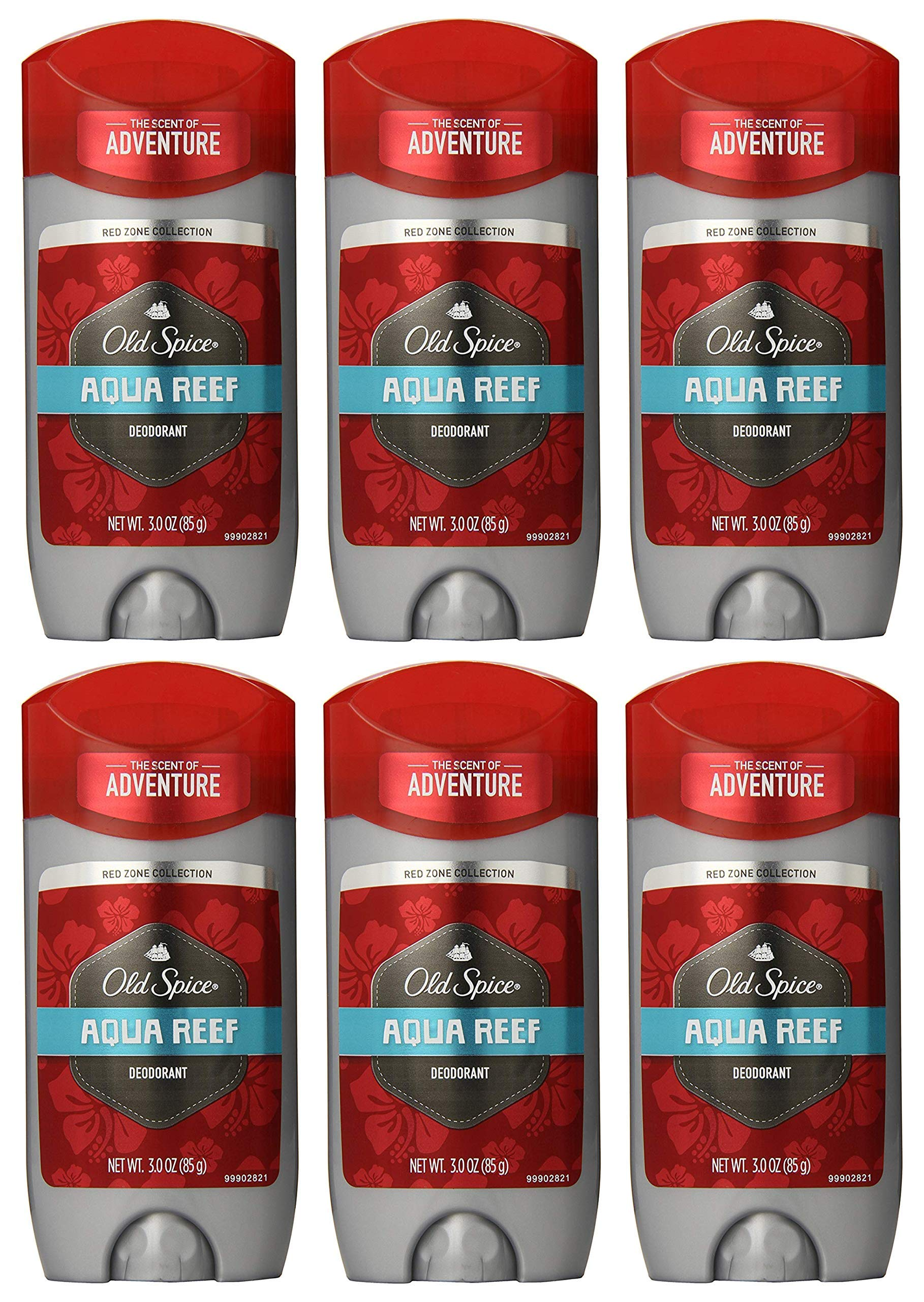 Old Spice Deodorant Aqua Reef Size 3 oz. (Pack of 6)