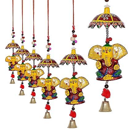 Jaipuri Haat Decorative Ganesh Door Hanging- Set Of 4