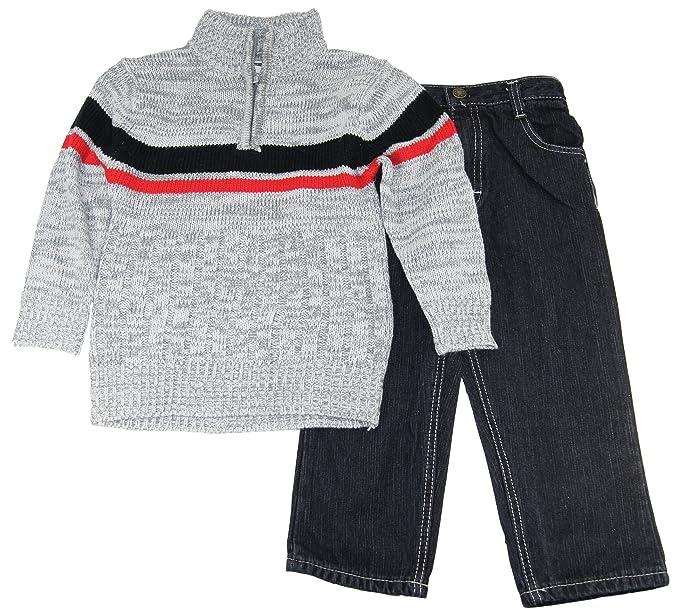 Boys Quad Little Seven Sewater chaqueta de cuello alto con 2 pc funda de edredón