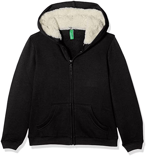 United Colors of Benetton Jacket W/Hood L/s, Chaqueta para Niñas,