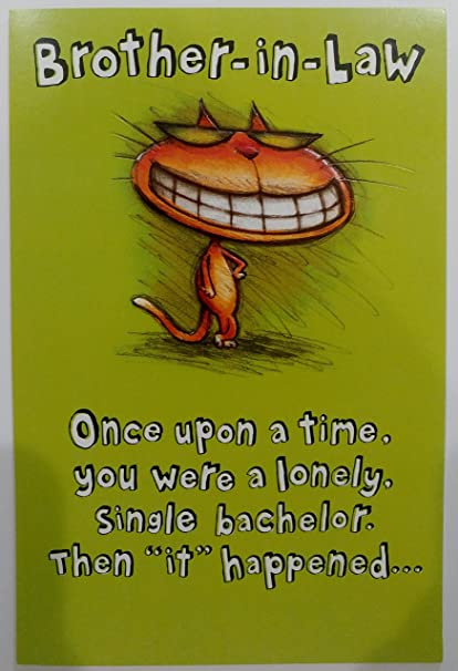 Amazon Happy Birthday Brother In Law Greeting Card Funny