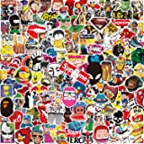 Pack Pegatinas [150-PCS],Q-Window Stickers Vinilo Graffiti Calcomanías Pegatina para Coche Moto Infantiles Pared Teclado IPhone Ps4 Niños Bicicleta Ordenador Equipaje Snowboard Macbook Xbox One bomb