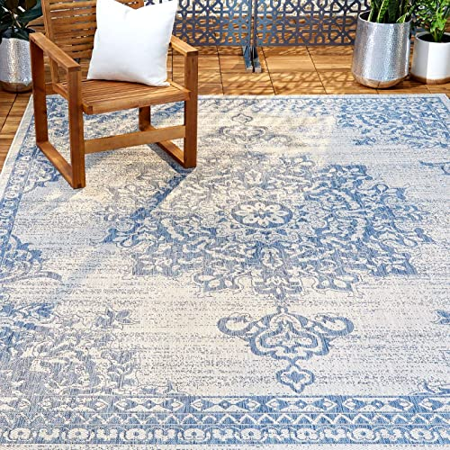 Home Dynamix Nicole Miller Patio Country Azalea Indoor/Outdoor Area Rug 7'9″x10'2″