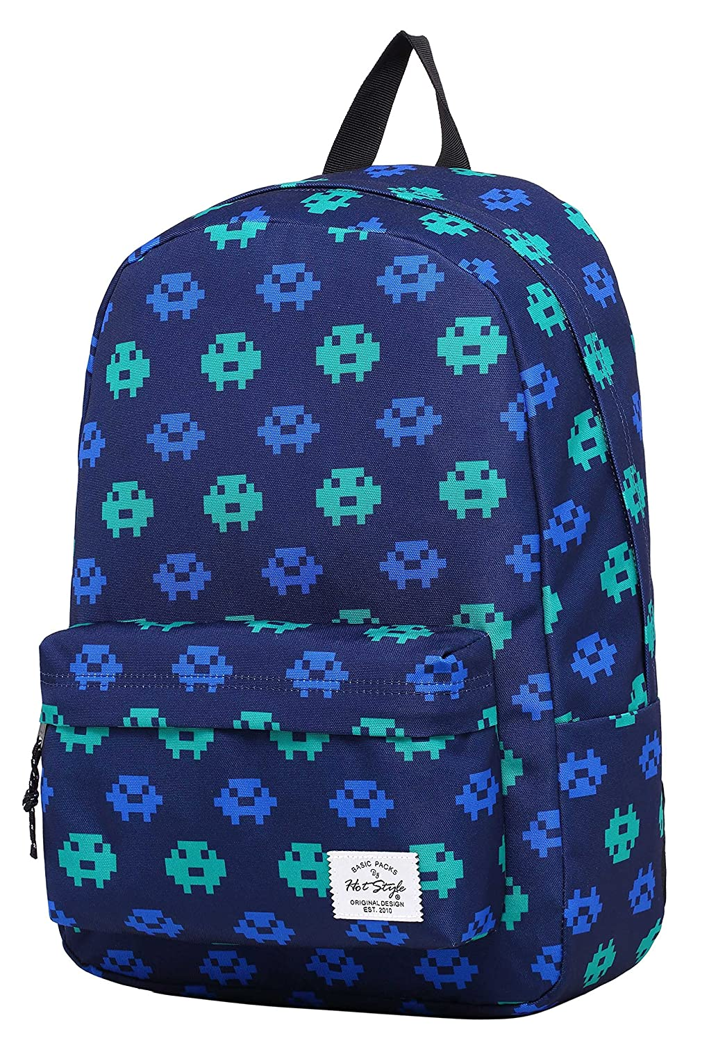 SIMPLAY Classic School Backpack Bookbag, 17'x12.5'x5', Assorted Colors and Prints